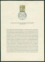 Alt Berlin Ersttagsblatt 14 ETB Mi.Nr. 150 Ersttagsstempel Charlottenburg 1956