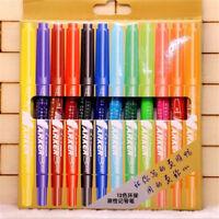 12x Art Graphic Drawing Dual Twin Tip Brush Sketch Manga Water Color Marker Pen