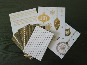 B METALLIC CHRISTMAS HOLIDAY CARD STOCK 4 BY 6 INCH 3 EACH OF 9 DESIGNS 31 PIECE