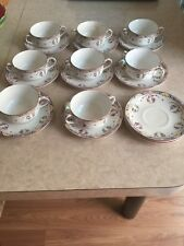 VINTAGE  J & G Meakin Hanley England 8 cups and  11 plates