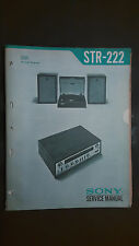 Sony str-222 Service Manual schematic Original record player stereo tuner radio