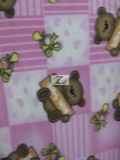"BEAR PRINT POLAR FLEECE FABRIC - Baby Bear - 36""X60"" WIDTH SOLD BTY - 636"