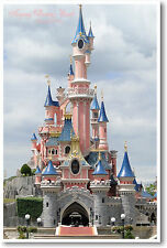 Sleeping Beauty Castle Disneyland Paris - Euro Disney Travel - NEW POSTER