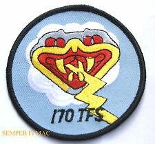 170TH TFS US AIR FORCE PATCH ILLINOIS ANG CAPITIAL AFB P39 P47 P51 F84 F4 F16