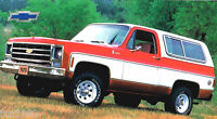 CHEVROLET BLAZER K5 / K-5 SPEC SHEET/Brochure:1969,1970,........