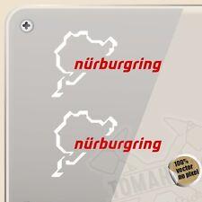 PEGATINA KIT NURBURGRING BICOLOR VINYL STICKER DECAL AUFKLEBER AUTOCOLLANT