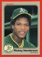1983 Fleer #519 Rickey Henderson NEAR MINT/MINT+  Oakland A's  HOF FREE SHIPPING