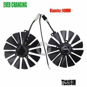 Cooler Fan For Graphics Video Card ASUS STRIX RX570 4G GPU 3500RPM Gaming Play