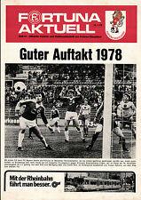 BL 77/78 Fortuna Düsseldorf - Eintracht Braunschweig, 14.01.1978