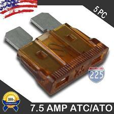 5 Pack 7.5 AMP ATC ATO STANDARD Regular FUSE BLADE 7.5A CAR TRUCK BOAT MARINE US