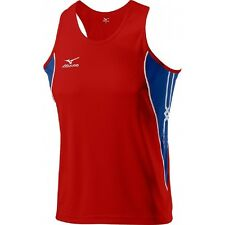 Mizuno Singlet Team Running 52HM20162 Top Size Small Mens Red/Navy/White #4552