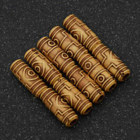 10X Lots Brown Dreadlock Extensions Hair Beads Hair Braid Ring Clip Hair Jewelry