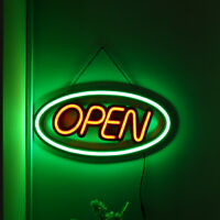 PVC OPEN Neon Sign LED Handmade Visual Artwork Bar Club Wall Light Decoration