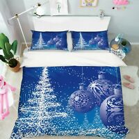 3D Christmas Xmas 513 Bed Pillowcases Quilt Duvet Cover Set Single Queen King AU