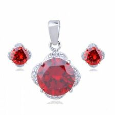 White Gold Plated Red Fashion Jewellery Sets