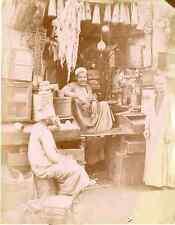 Zangaki, Egypte, Le Caire, Epicerie rurale  Vintage albumen print,  Tirage