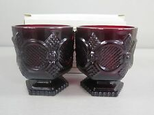 AVON The 1876 Cape Cod Collection Footed Glass Set In Box