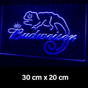 New Budweiser Blue King Of Beers Sign Light Advertisement Neon Man Cave Pub