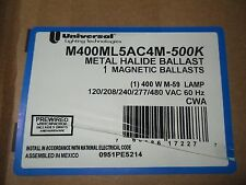 (V3) 1 NIB UNIVERSAL LIGHTING M400ML5AC4M-500K MAGNETIC BALLAST