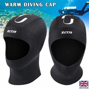 3mm Winter Neoprene Wetsuit Stretch Hat Hood  Cap Cover  Surfing Kayaking Scuba