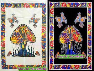 2 piece Mushroom Tapestry Bohomen Indian Wall Hanging Wholesale (77cmX102cm)WB-5