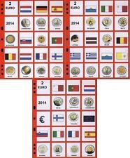 NUOVO AGGIORNAMENTO TUTTI I 2 EURO DEL 2014 LOTTO 3 FOGLI LOTTO 0
