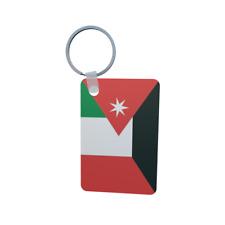Schlüsselanhänger Flagge Fahne Jordanien-Italien Alu 40 x 57 mm