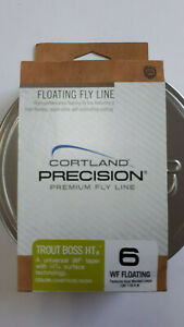 "CORTLAND "" PRECISION "" Premium Fly Line WF6   dual welded loops CHAT/IVORY  HTx"