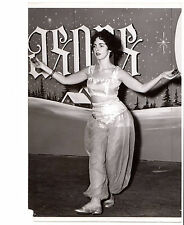 1950's trimmed press photo beautiful sexy belly dancer Zills Finger Cymbals