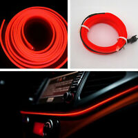 Universal Car Auto Interior LED Decor Wire Strip Atmosphere Neon Cold Light Red