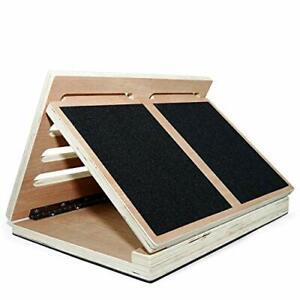 Wooden Slant Board/Calf Incline Board 4 Incline Level: 10, 20, 30 & 40 Degree