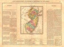Estado de Nueva Jersey Antiguo Mapa. condados. Buchon 1825 viejo plan Gráfico