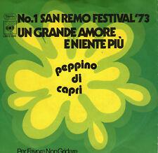 San Remo 1973 Peppino di Capri-ONU grande amore eniente piu, 7 inch
