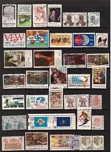 USA 1974 - 1977 used stamps selection