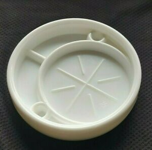 Coaster / Ashtray MILK GLASS McKee Style For Shot Glass Cup Vintage