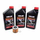 Oil Change Kit Yamaha RHINO 450 660 700 3 Quarts YAMALUBE 10W-40 + Oil Filter