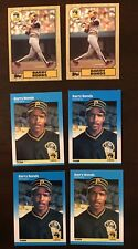 LOT Of Six (6) 1987  Fleer Topps Barry Bonds BASEBALL ROOKIE RC Card PSA ??