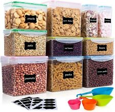 New listing Vtopmart Airtight Food Storage Containers 10Pcs Set, Flour Containers, Bpa Free