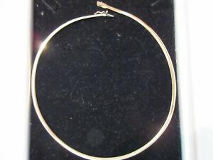 Damen Omegakette, Halsreif, Gelbgold 585, 43 cm lang, 0,4 cm breit, 18g schwer