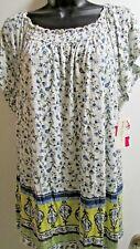 New Women's SIze 3X White Floral Plus Off the Shoulder Tee Blouse Bobbie Brooks