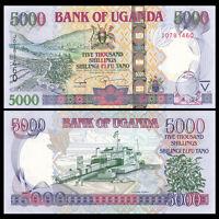 Uganda 5000 (5,000) Shillings, 2009, P-44d, UNC