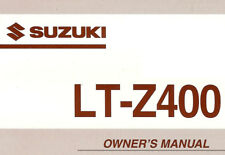 2004 SUZUKI LT-Z400 QUADSPORT ATV OWNERS MANUAL -LT Z 400-QUAD SPORT-LTZ400