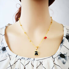 Women Lady Bear Pendant Necklace Inlaid Zircon Gold-plated Fashion Jewelry