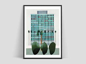 David Hockney - California Bank, Giclee Print, Large Wall Art, LA CityScape Rare