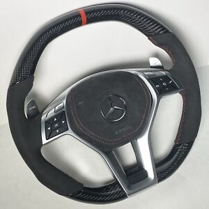 Mercedes Benz REAL Carbon Fiber AMG Steering Wheel C63 CLS63 E63 SL63 SLK55