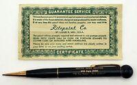"VTG RitePoint 8 Ball Mechanical Pencil ""Active Neon Service"". Certificate"