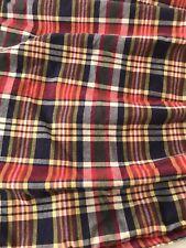 Ralph Lauren queen bedskirt; Garrison Or Kennebunkport Plaid; Blue Label VGC