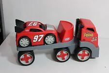 LITTLE TIKES Red Race Car Hauler Heavy Duty Semi-Truck