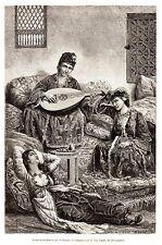 Antique print Smyrna portrait ladies Anatolia Izmir 1880