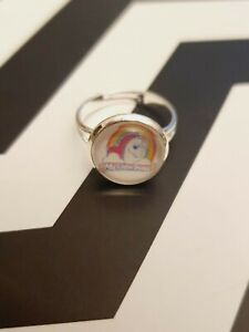 My Little Pony Retro Logo Mini Silver Plated Adjustable Statment Ring Jewellery